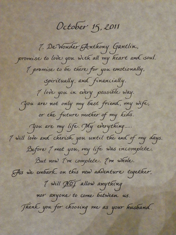 52 best images about Wedding Vows on Pinterest