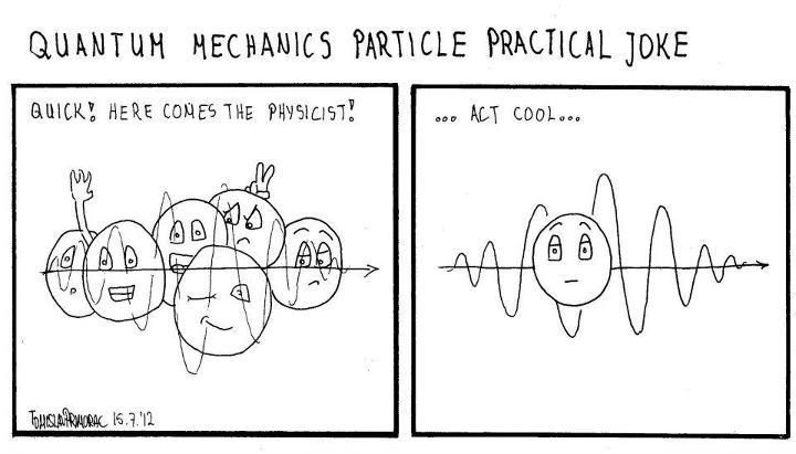 Practical jokes, Quantum mechanics and Jokes on Pinterest