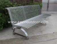 Modern metal bench for park stainless steel park bench ...