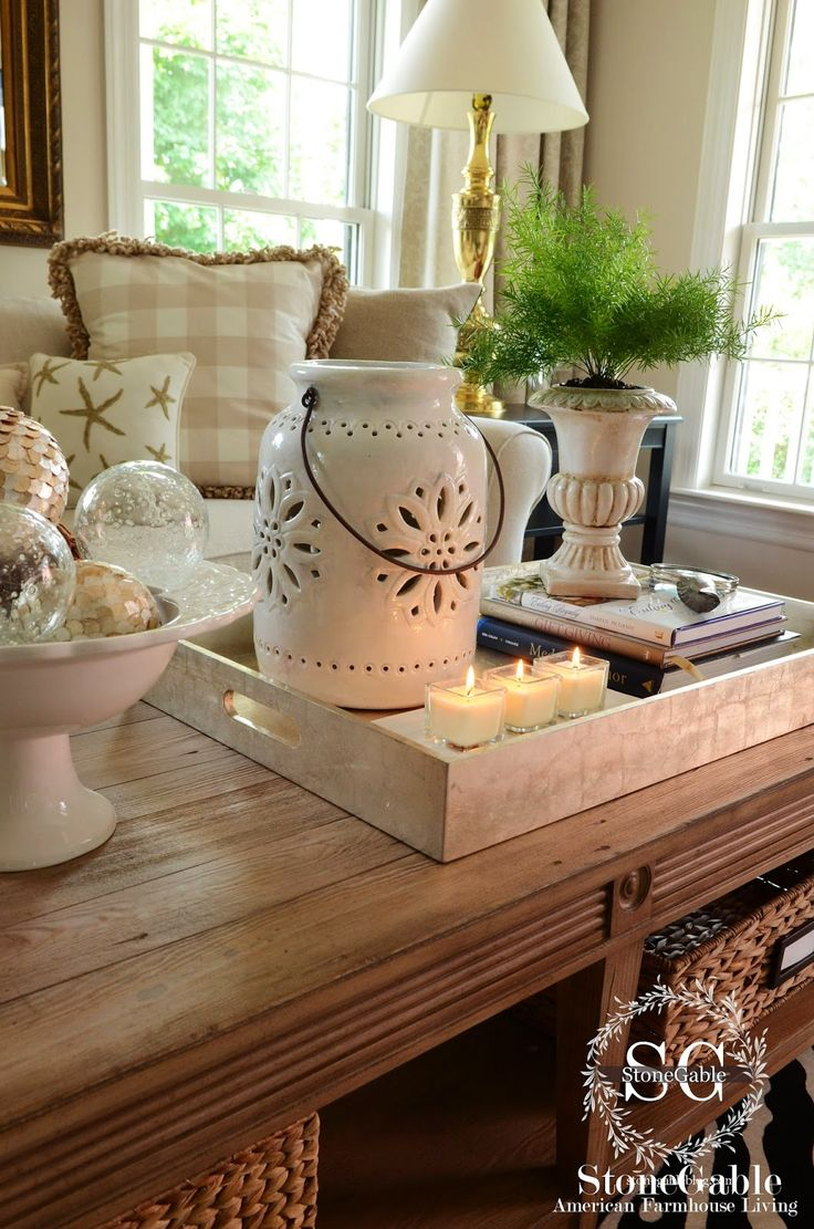 25 best ideas about Coffee Table Decorations on Pinterest  Coffee table tray Coffee table