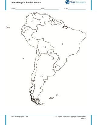 Map quiz, South america and Quizes on Pinterest