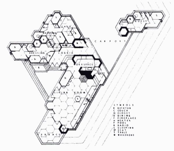 What are the downsides to a hexagonal city layout that
