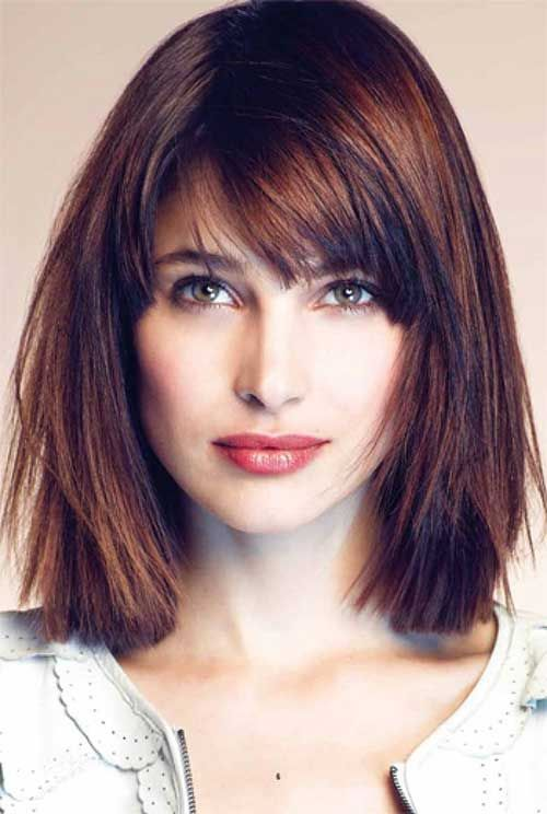 25 Best Ideas About Long Bob With Bangs On Pinterest Medium Bob