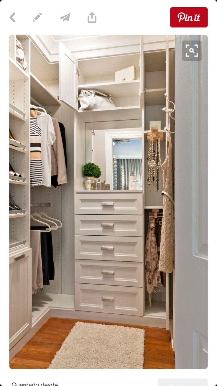 25 best ideas about Closet vanity on Pinterest  Necklace organization Makeup vanities ideas