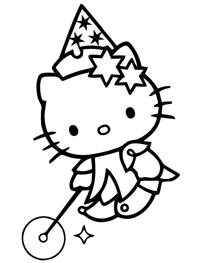 Baby Hello Kitty Playing Toys Coloring Page