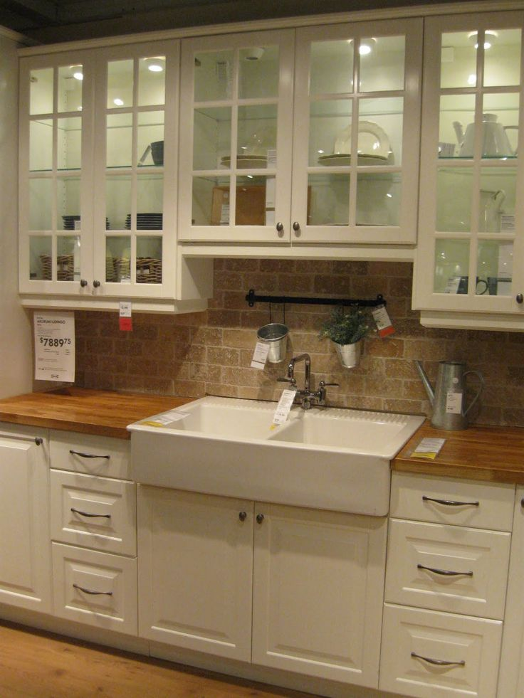 Love This Drop In Apron Front Sink And Butcher Block