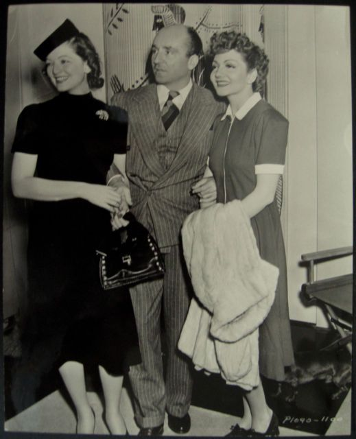 Myrna Loy her husband Arthur Hornblow Jr and Claudette