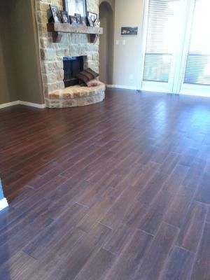 Tile that looks like wood Style Selections 6in x 24in Serso Black Walnut Glazed Porcelain
