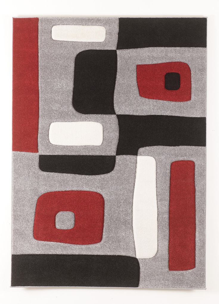 Contemporary Area Rugs Geo Red Medium Rug By Signature