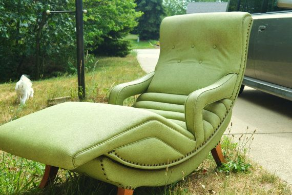 Green Contour Chair Lounge from 1956 model 100  Models