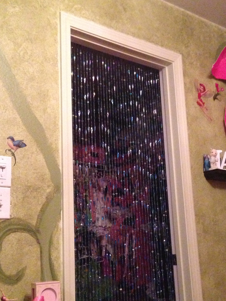 Bead Curtain As Closet Door For Little Girls Room My