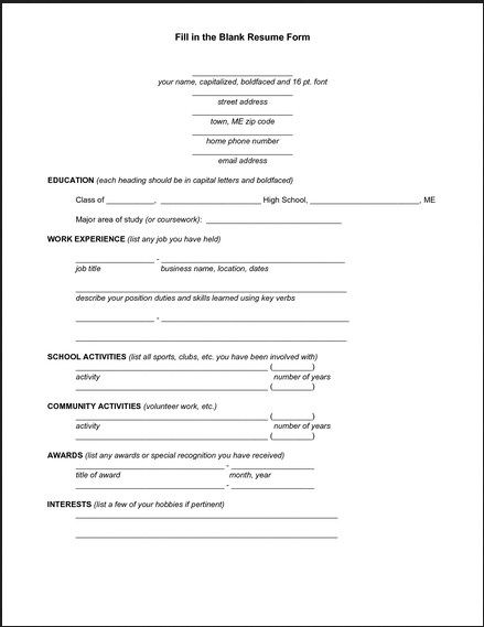 25 Best Resume Form Ideas On Pinterest Simple Resume