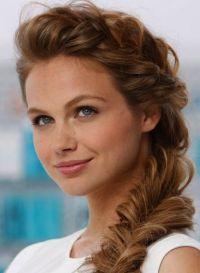 Long Side Braided Fishtail Braid. Medium Hairstyles for ...