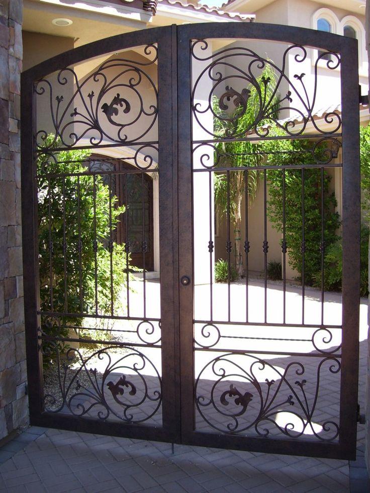 Wrought Iron Courtyard Gates  Decorative Iron Works  Wrought Iron Fence  7023878688