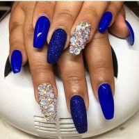 25+ best ideas about Royal blue nails on Pinterest   Blue ...
