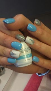 light blue nails ideas