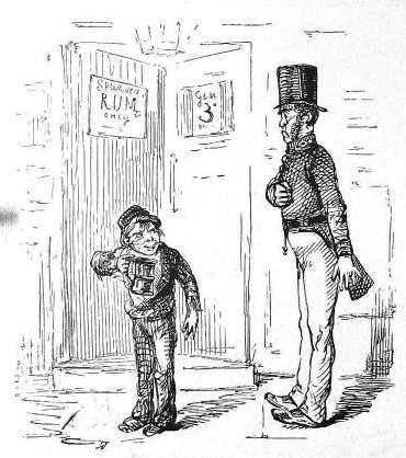 A Peeler or Bobby (Punch cartoon 1845 PD)-Peel introduced