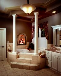 17 Best images about Bathroom Fireplaces on Pinterest