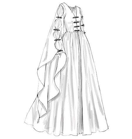 Best 20+ Medieval dress pattern ideas on Pinterest