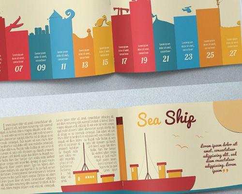 Best Print Design Illustration Brochure Misc Pinterest