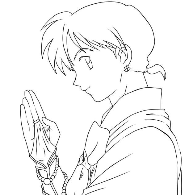 best images about inuyasha coloring pages on pinterest