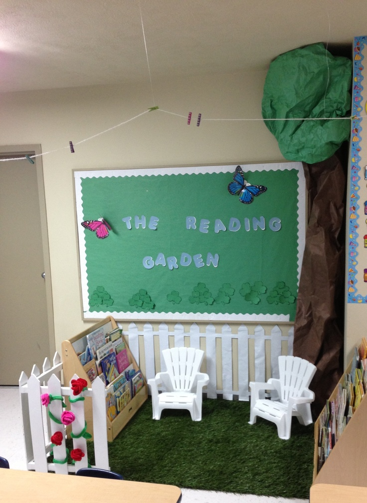 The Reading Garden Pre K Classroom Projects Pinterest
