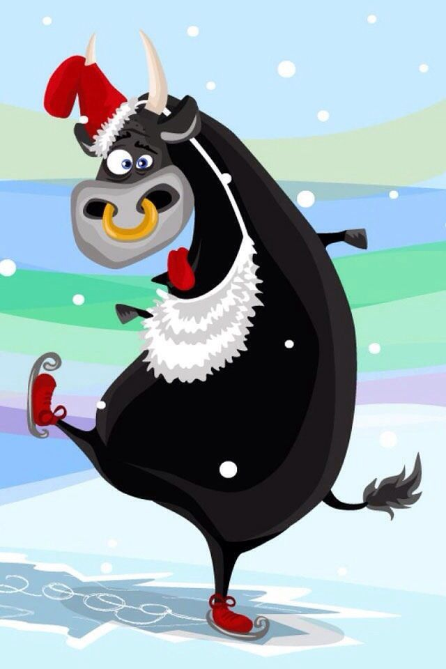 Christmas Cow Cows Pinterest Cow And Christmas