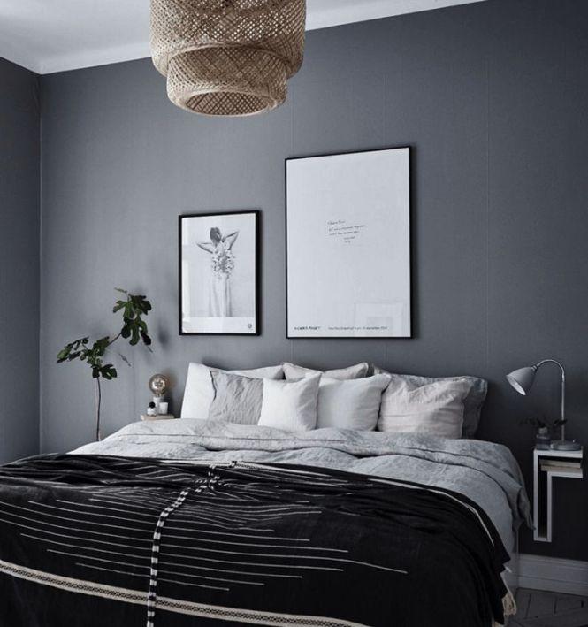 10 Dark Bedroom Walls Via Cocolapinedesign Com