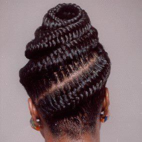 Fishtail cornrows  African Hair  Pinterest  Posts Updo and Fishtail