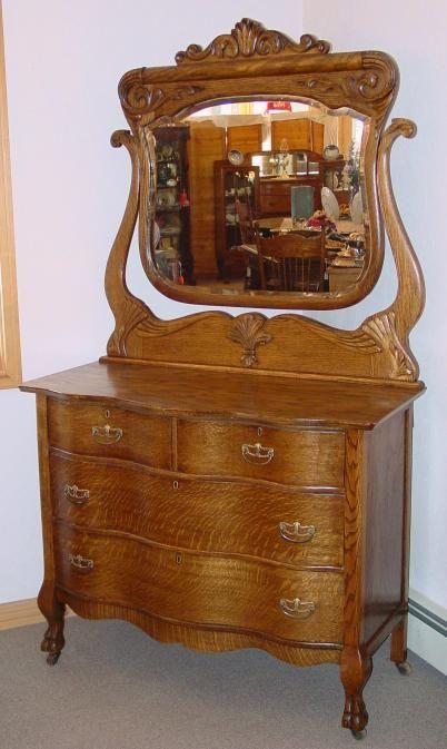 27 best images about Antique serpentine front dressers on Pinterest  Antique silver Oak