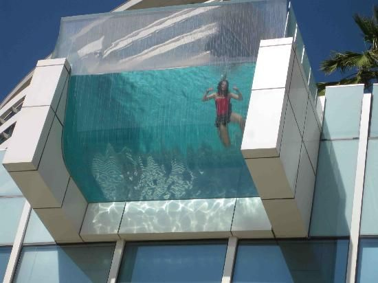 InterContinental Dubai Festival City Nice glass bottom feature of pool photocredits