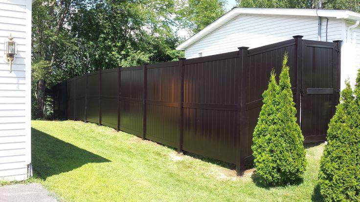 Brown Modern Style Vinyl Fence #pvc #eco #no-maintenance
