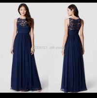 Aliexpress.com : Buy Navy Blue Chiffon Long Bridesmaid ...