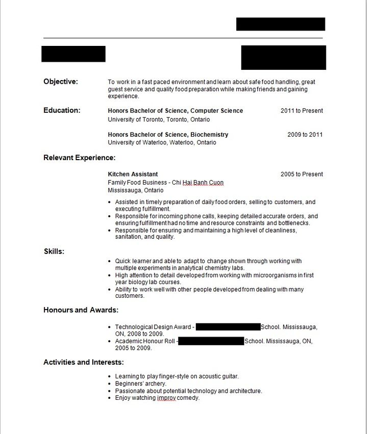 Write Resume First Time With No Job Experience Sample  Write Resume First Time With No Job