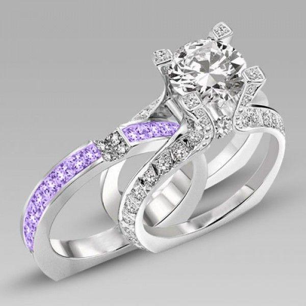 1000+ ideas about Amethyst Wedding Rings on Pinterest