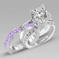 1000+ ideas about Amethyst Wedding Rings on Pinterest