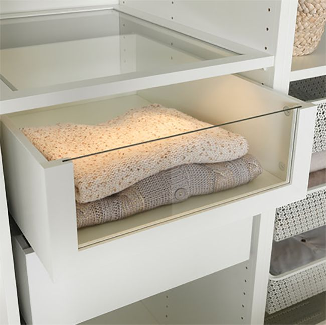 IKEA Komplement Glass Front Drawer  Decoist  Sexy Swim and Furniture