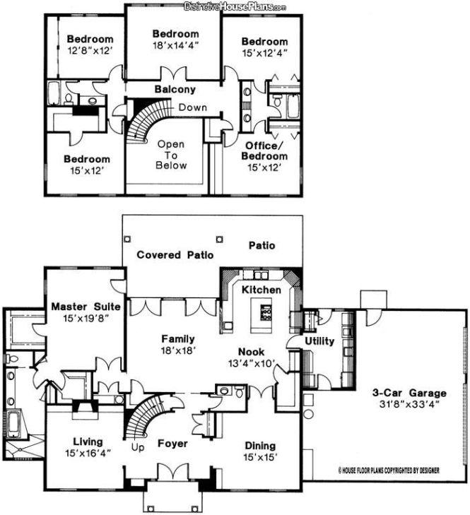 5 Bed 3 Bath 2 Story House Plan Turn 18 X14 4 Bedroom