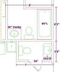 Small Powder Room Floor Plans | ... 6x9 Size/Small ...