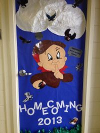Homecoming door decoration. Bulletin board. Go greyhounds