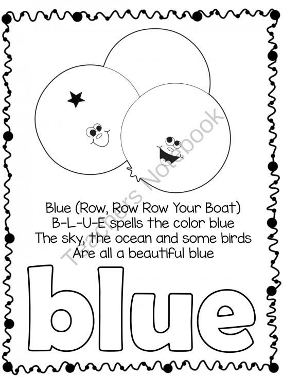 Color and Shape Poems from Teacher Twinkle Toes on
