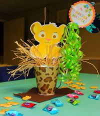 homemade lion king baby shower centerpieces | Decoration ...