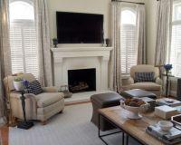Fireplace between two windows | Home decor - living room ...