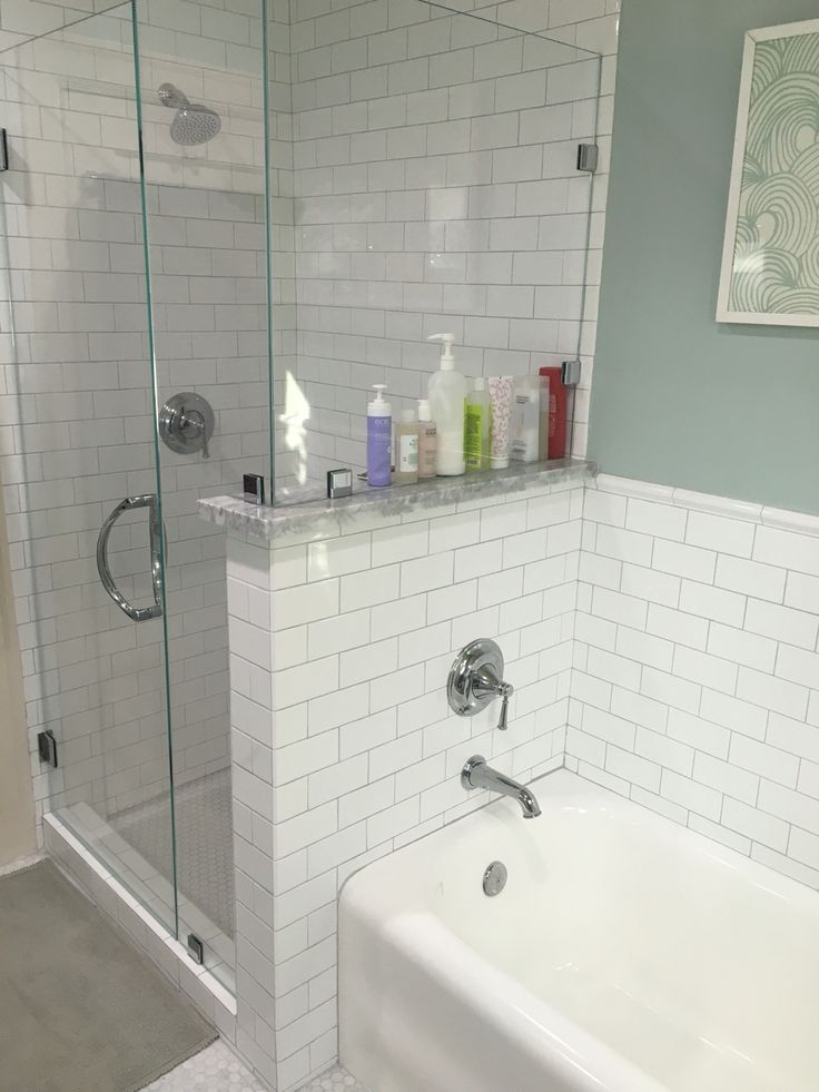 Toto Shower And Tub Fixtures Platinum Grout Renovated