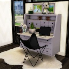 Chair With Desk Leg Pads For Hardwood Floors Just Sims 4 Clutter Stuff — Awesim's Hairpin And Secretary Desk... | Ts4 Cc Finds ...