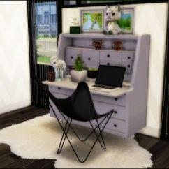 Office Chair And Desk Leopard Print Chairs Kirklands Just Sims 4 Clutter Stuff — Awesim's Hairpin Secretary Desk... | Ts4 Cc Finds ...