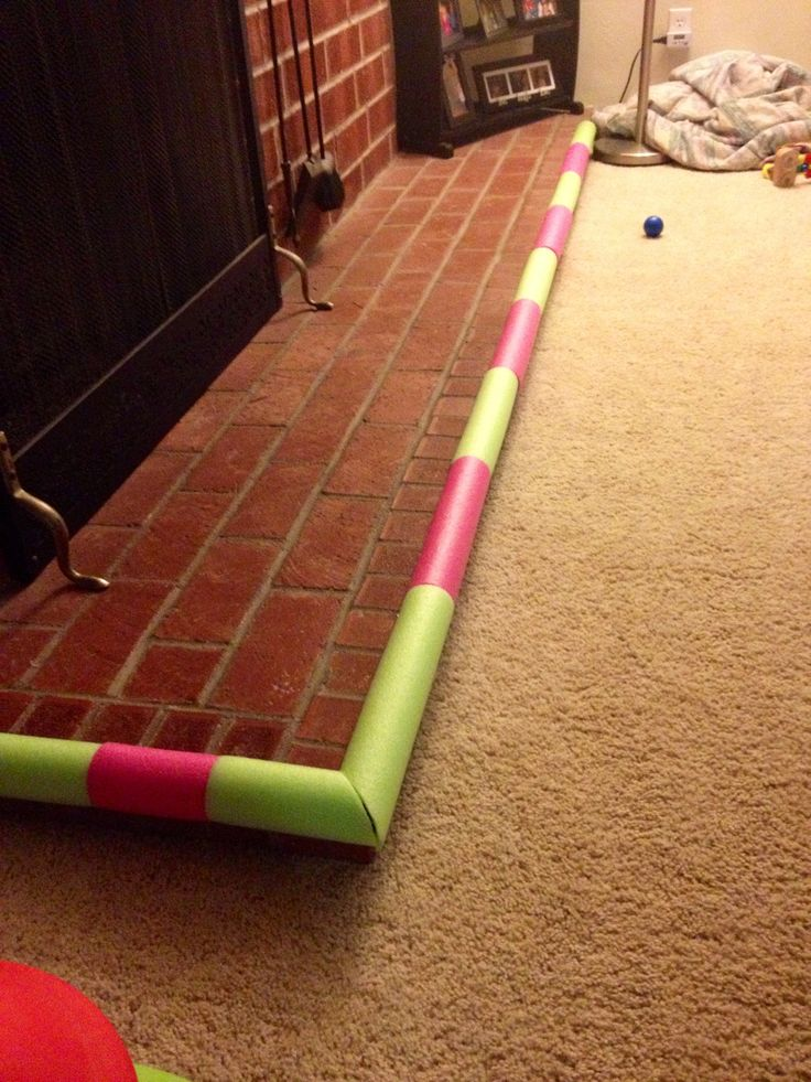 Baby bumper made from pool noodles and self stick Velcro  Kid Stuff  Pinterest  Burlap baby