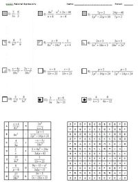 All Worksheets  Rational Functions Worksheets