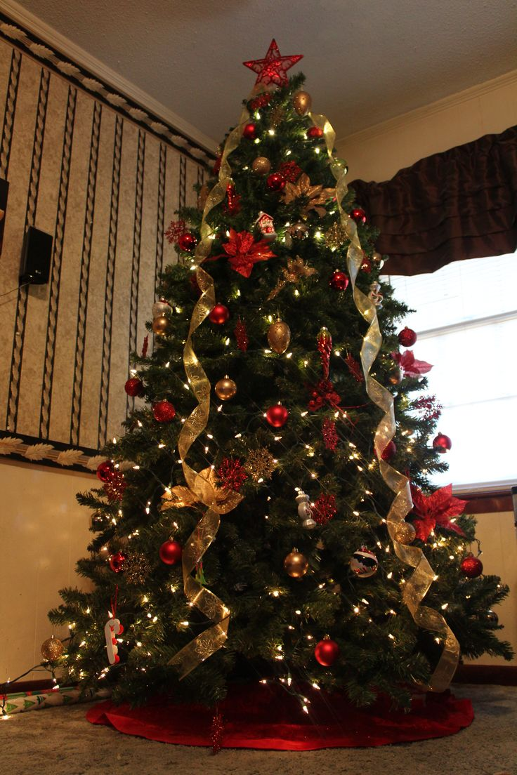 most beautiful christmas trees gold christmas treedecorated