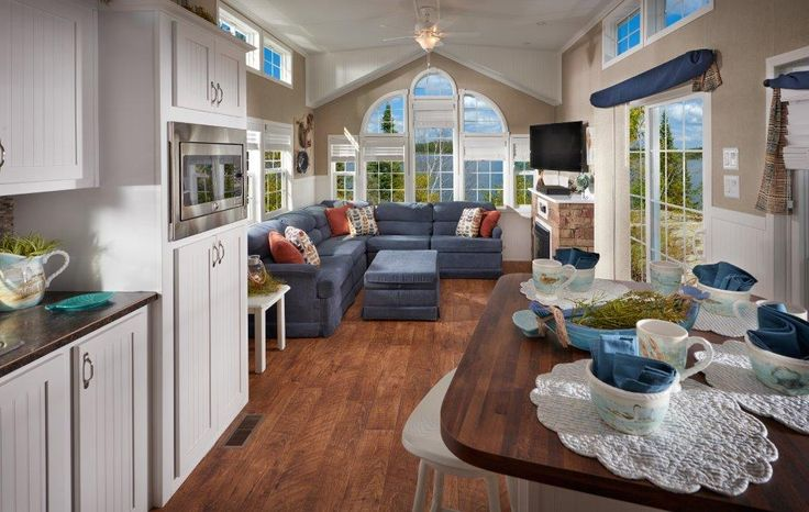 remodeling small living room cheap seating kropf mobile home. this is a high end park model. it ...